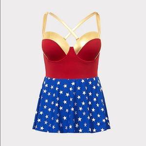 Torrid Wonder woman 1pc swim dress DC comics
